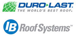 ib roof system and duro last logos