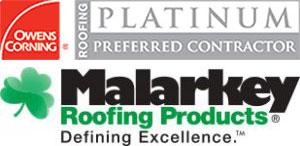 platinum roofing product logo
